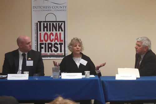 Didi speaking at the Dutchess County Regional Chamber of Commerce Legislative Breakfast.