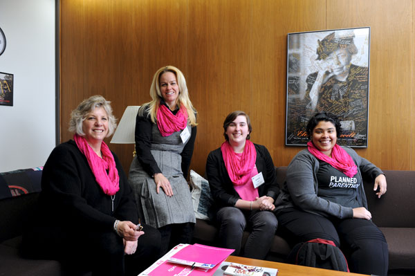 Assemblymember Didi Barrett meets with representatives from the Mid-Hudson Valley Planned Parenthood.