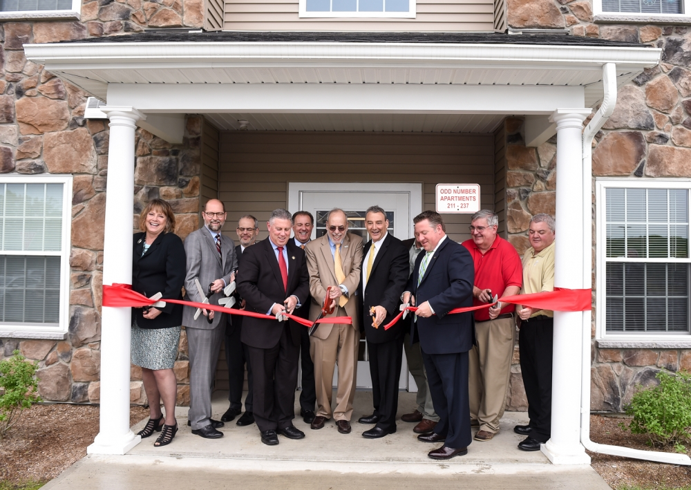 Assemblymember McDonald at the ribbon cutting ceremony for Lion Heart Residences in Cohoes.