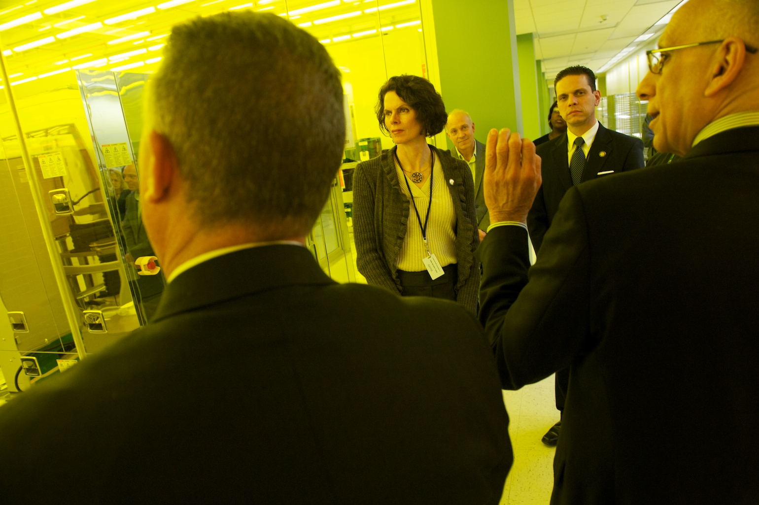 Assemblymember Patricia Fahy tours the SUNY College of Nanoscale Science and Engineering in Albany.