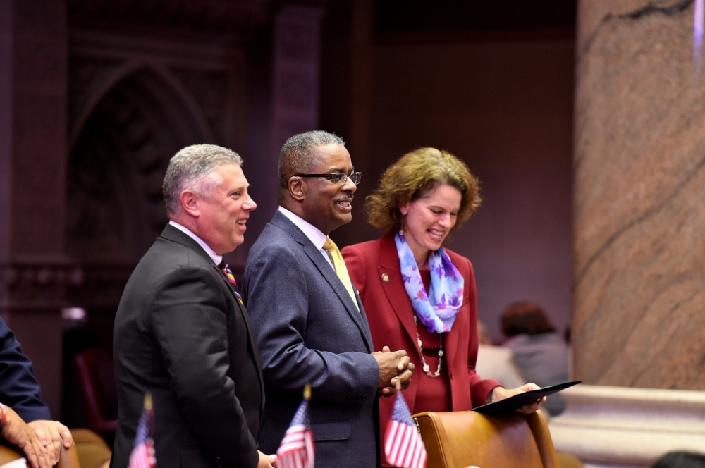 Assemblywoman Fahy celebrates the NYS Assembly Chamber Sergeant-at-Arms