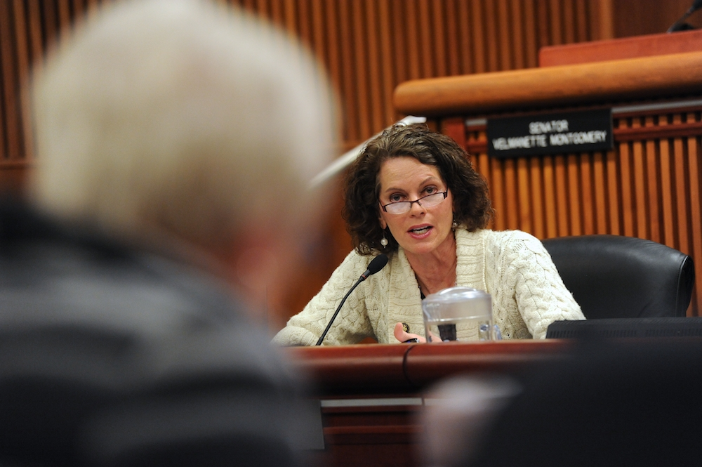 As a member of the Assembly's Higher Education Committee, Assemblymember Fahy asks clarifying questions of SUNY Chancellor Nancy Zimpher at the February 2015 Budget Hearing.
