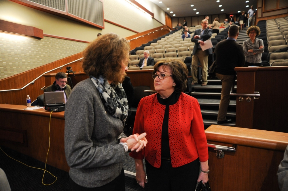 Assemblymember Fahy discusses education policy with New York State Education Commissioner MaryEllen Elia during the January 2016 Budget Hearing for Elementary & Secondary Education.