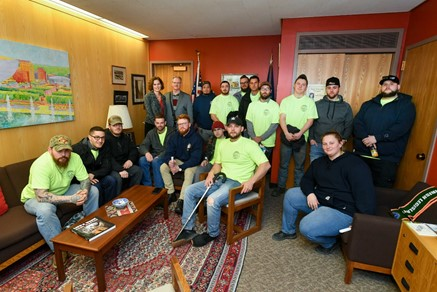 Feb. 4, 2020:  A Visit with the NYS Pipetrades Leadership