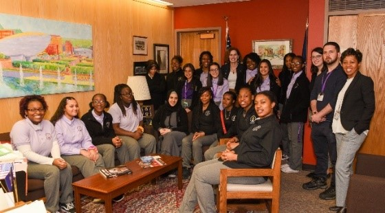 Feb. 25, 2020:  Visit from the Leadership Academy