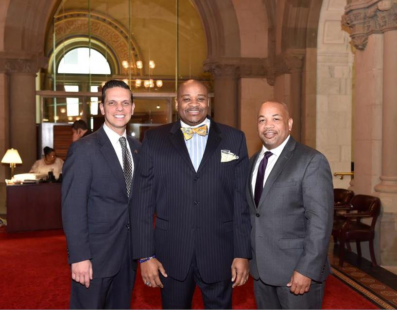 Rev Horace Sanders Jr. from Schenectady's Mt Olivet Missionary Baptist Church offered the opening prayer in the NYS Assembly Chamber on June 8th, 2017.<br />