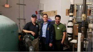 Assemblyman Angelo Santabarbara joins Via Aquarium Executive Director David Gross, Via Aquarium Marketing Director Alan Finitzi for an exclusive behind the scenes tour. 2/25/17<br />