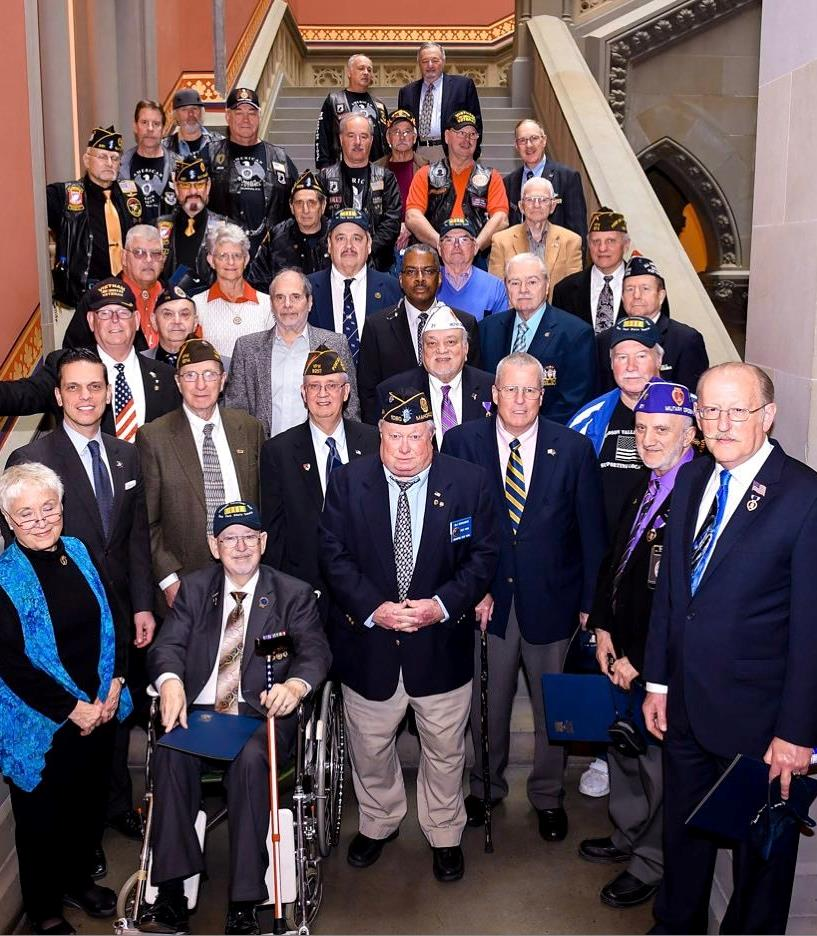 Vietnam Veterans of America join Assemblyman Santabarbara today at the State Capitol for Vietnam Veterans Day. Thank you for your service. God Bless our veterans.  March 29th, 2017<br />