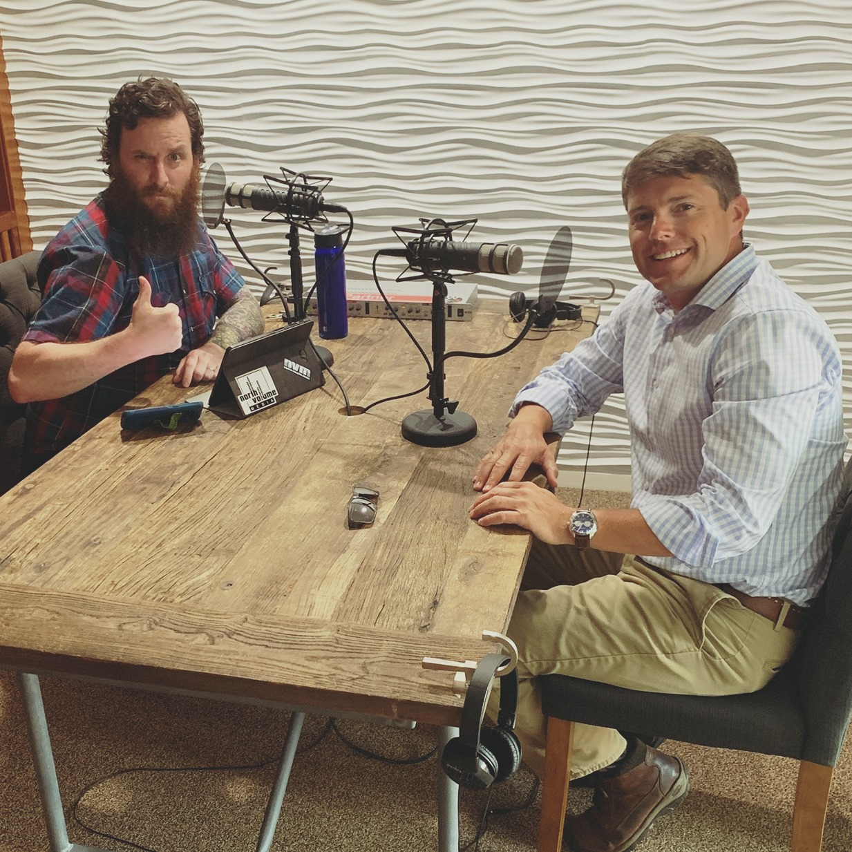 Assemblyman Billy Jones joined Nicholas Dubay at North Volume Media Studios to record an episode of the Mental Health Survival Guide Podcast in July 2019.