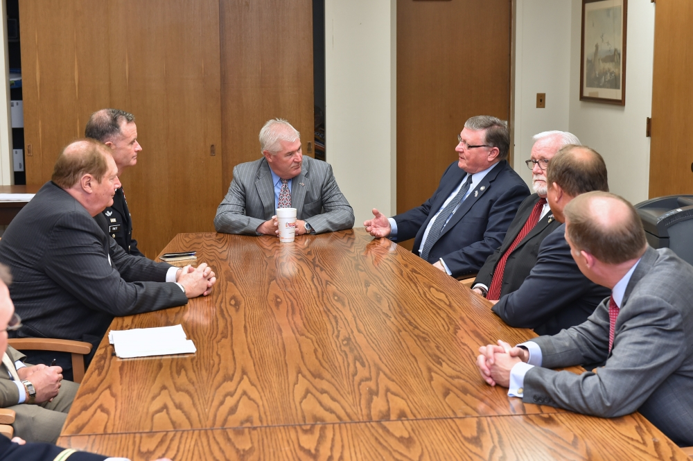Assemblyman Ken Blankenbush (R,C,I-Black River) joined Assembly Minority Leader Brian Kolb (R,C,I,Ref-Canandaigua) and fellow North Country legislators to speak with Major General Walter Piatt, who is