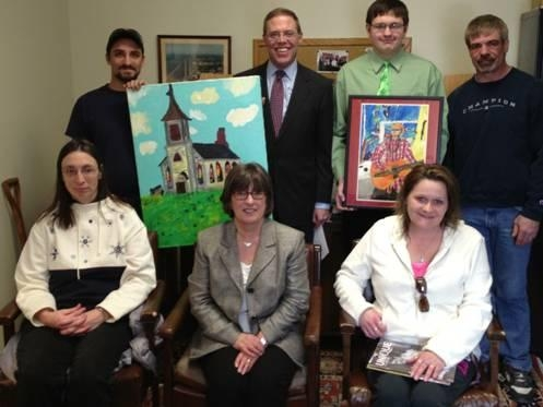 Assemblyman Will Barclay (R,C,I�Pulaski) recently met with featured artists who are part of the latest issue of Unique, a magazine which is published annually to display the creative work of people wi