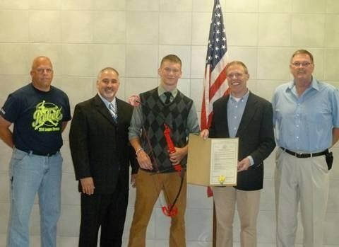 Assemblyman Will Barclay (R,C,I--Pulaski) recently honored Altmar-Parish Williamstown High School's Jarid Paninski for capturing first place in the New York State National Archery in the Schools Progr