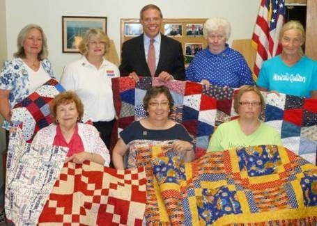 Assemblyman Will Barclay (R,C,I�Pulaski) recently honored local quilters who donated handmade quilts to the Quilts of Valor Foundation.