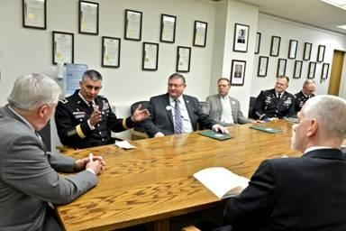Assemblyman Will Barclay (R,C,I—Pulaski) and members of the Assembly Minority Conference met with Major General Stephen J. Townsend, Commander of the Fort Drum 10th Mountain Division.
