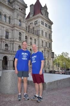 Local Assemblymen Will Barclay (R, C, I�Pulaski) and Bob Oaks (R,C�Macedon) participated in the annual National Running Day event at the New York State Capitol complex in Albany on the morning of June
