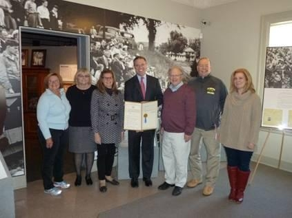 Assemblyman Will Barclay (R,C,I-Pulaski) recently presented the board members of the Safe Haven Museum and Education Center with a resolution memorializing Holocaust Remembrance Day.  The Safe Haven M