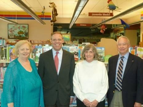 Assemblyman Will Barclay (R,C,I-Pulaski) recently visited the Baldwinsville Public Library to tour the library and meet with library personnel and trustees. Pictured from the left are Library Director