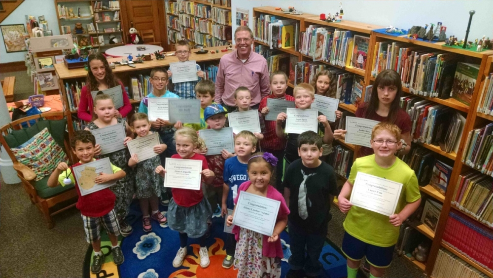 Almost 70 children throughout the area participated in Assemblyman Will Barclay's summer reading program. The recognition party was held Saturday, September 26 at the Fulton Public Library. Barclay re
