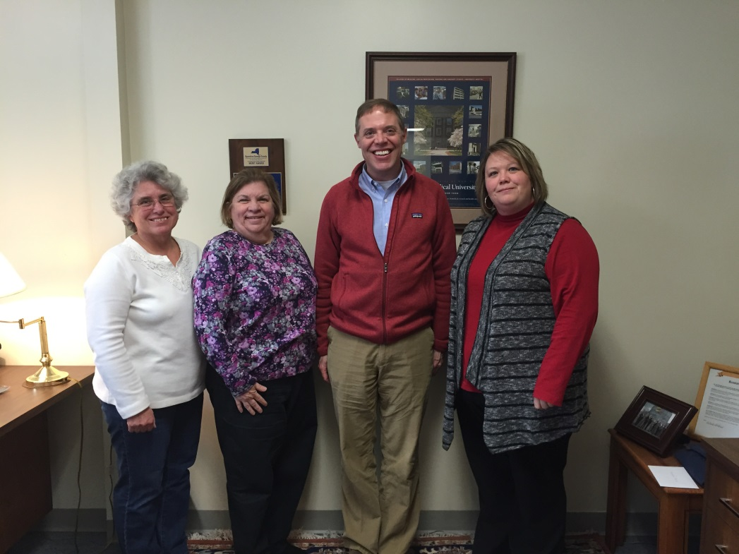 Assemblyman Will Barclay (R,C,I-Pulaski) recently met with organizers from Blessings in a Backpack.