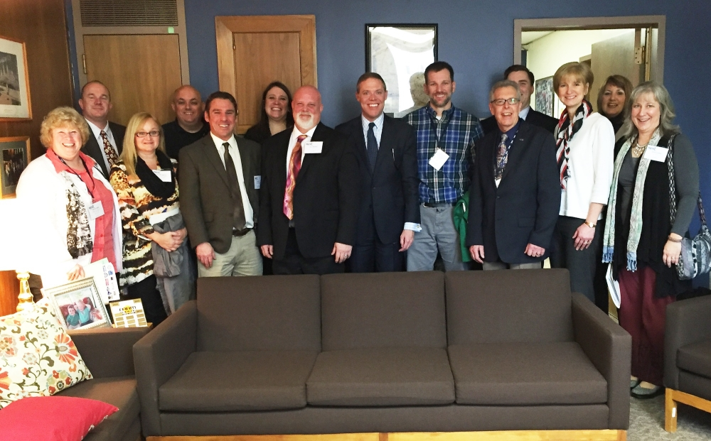 Assemblyman Will Barclay (R,C,I--Pulaski) recently met with teachers from throughout Oswego County in Albany to discuss how Albany's policies are affecting local schools.