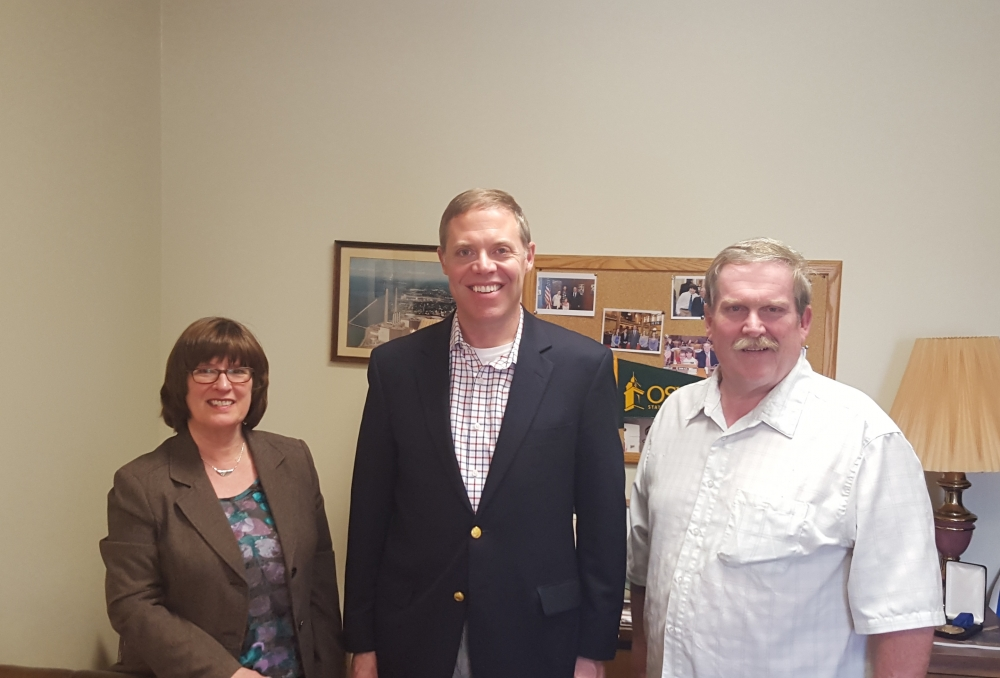 Assemblyman Will Barclay (R,C,I--Pulaski) recently met with leaders from ARISE.