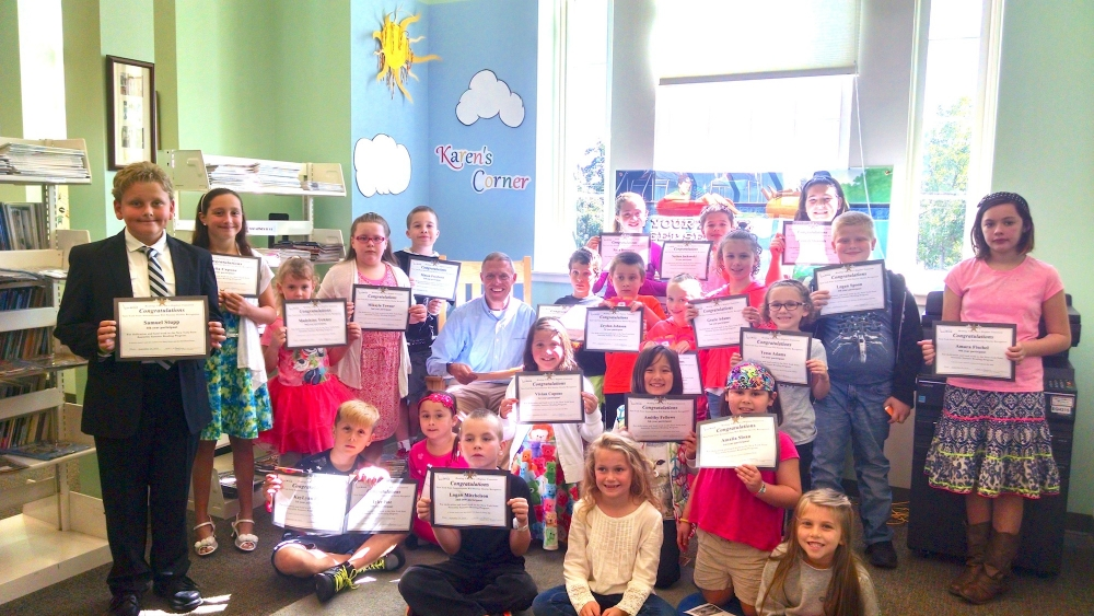 Assemblyman Will Barclay (R,C,I-Pulaski) recently held his Summer Reading Challenge reward party at the Oswego Public Library. About 80 kids from the 120th Assembly district participated in the Summer
