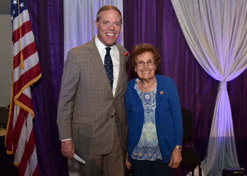 Assemblyman Will Barclay (R,C,I,Ref-Pulaski) recently met with City of Oswego resident Frances Enwright at the Capitol to congratulate her for receiving the 2018 Senior Citizen of the Year Award from