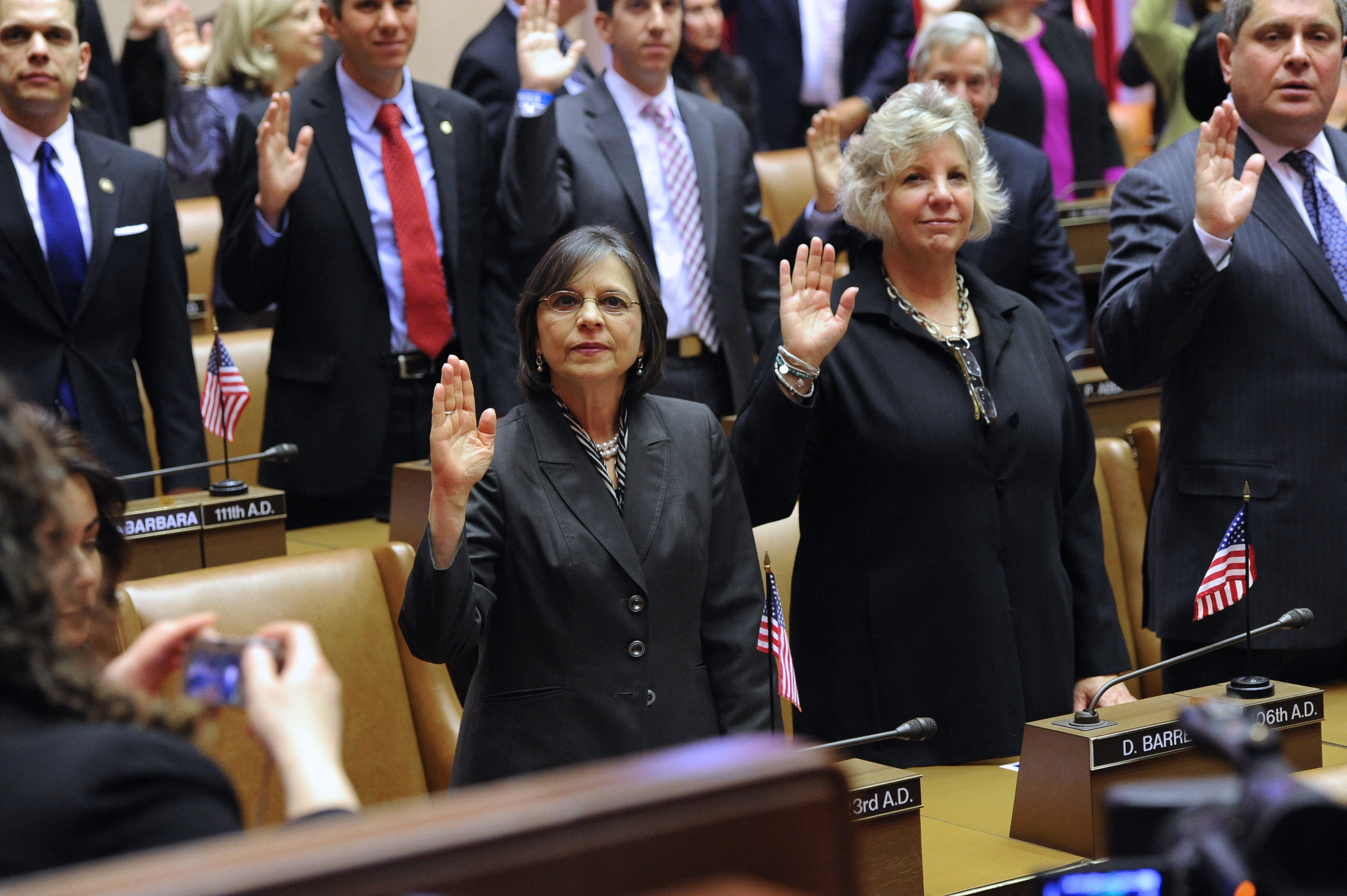 January 9, 2013 – Assemblywoman Donna Lupardo is sworn in for her fifth term in office.