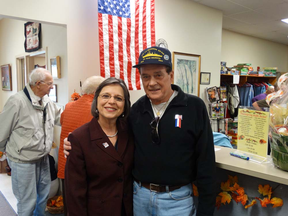 November 5, 2014 � Assemblywoman Donna Lupardo attends a Veterans Day Lunch at the Broome West Senior Center to honor men and women who served in our Armed Forces. Pictured with Assemblywoman Lupardo