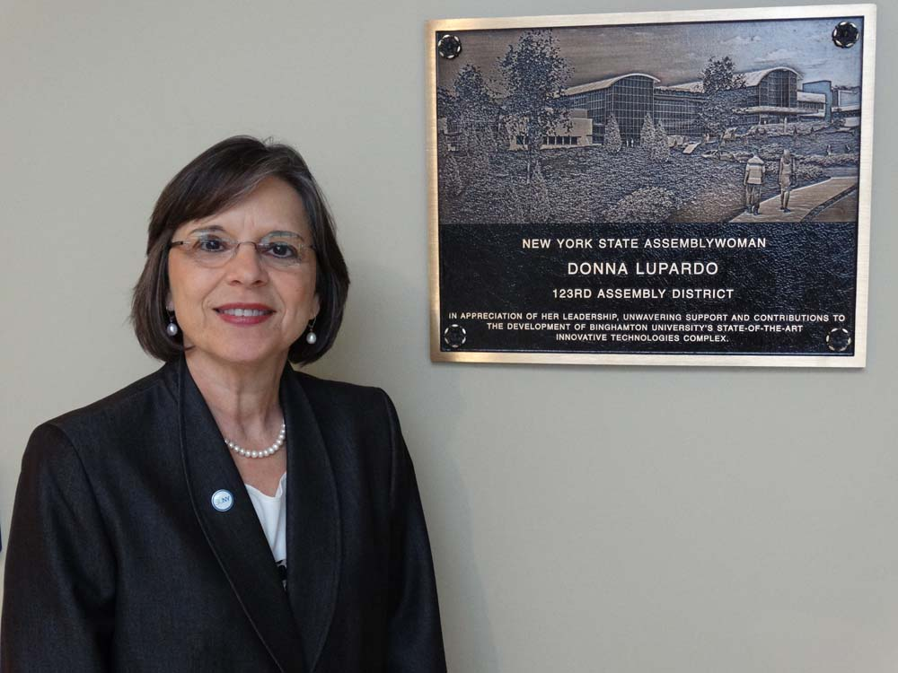October 22, 2014 � Assemblywoman Donna Lupardo at the grand opening of Binghamton University�s Center of Excellence for Small Scale Systems Packaging & Integration.
