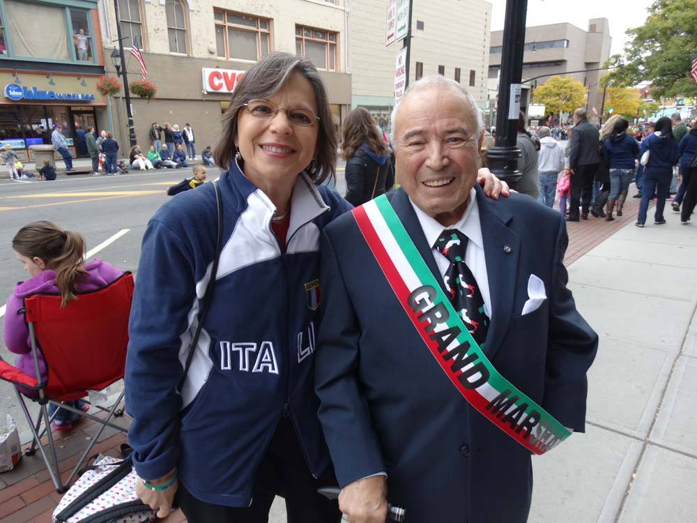 October 13, 2014 � Assemblywoman Donna Lupardo, President of the New York Conference of Italian-American State Legislators, enjoys the annual Columbus Day Parade and Tournament of Bands in Downtown Bi