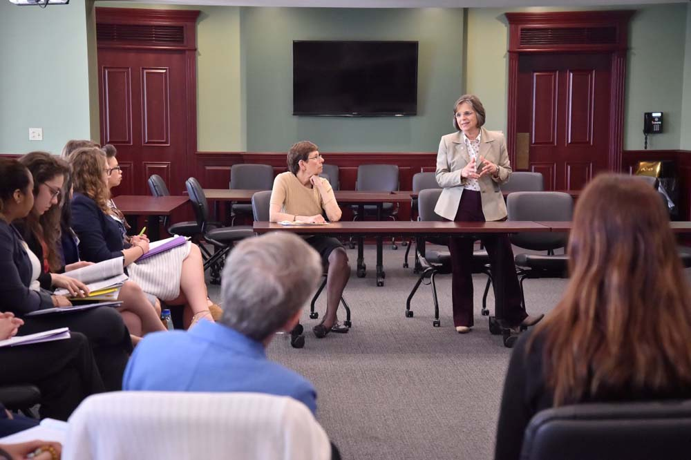 June 2, 2016 � Assemblywoman Lupardo, Chair of the Legislative Women�s Caucus, leads a discussion during a panel on women in government.