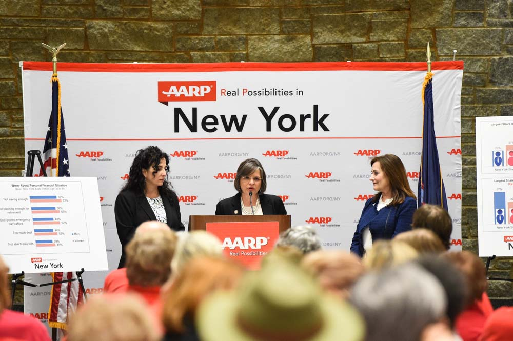 May 17, 2016 � Assemblywoman Lupardo joins Senator Diane Savino at an AARP rally detailing the retirement savings gap and the work the Legislature is doing to help prepare New Yorkers for retirement.