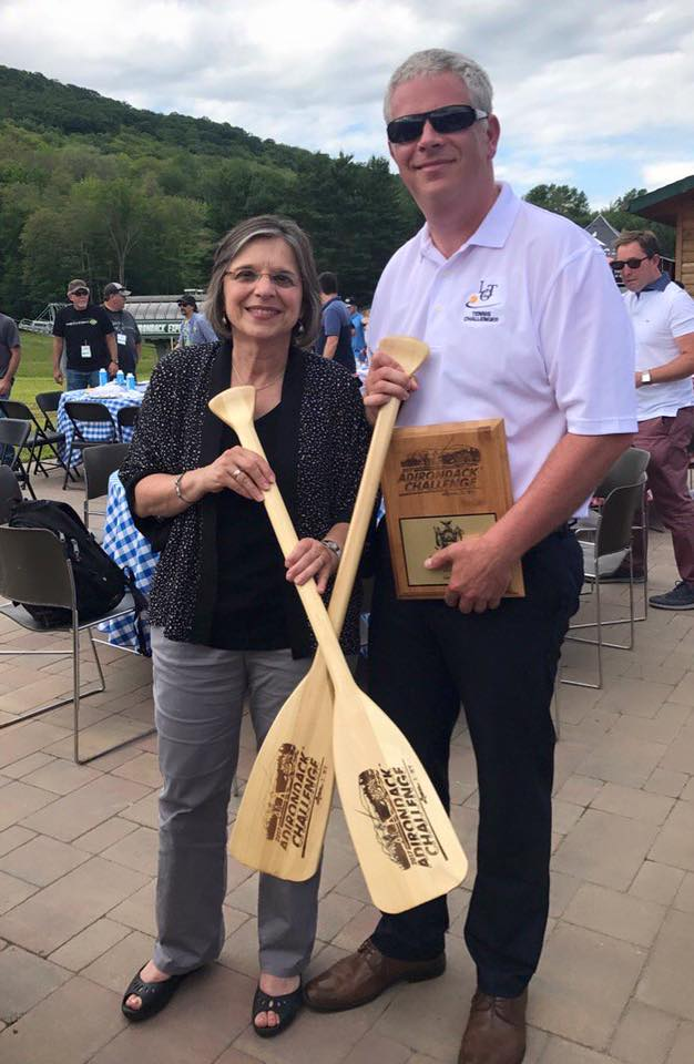 Assemblywoman Lupardo and Broome County Executive Jason Garnar at the annual Adirondack Challenge.