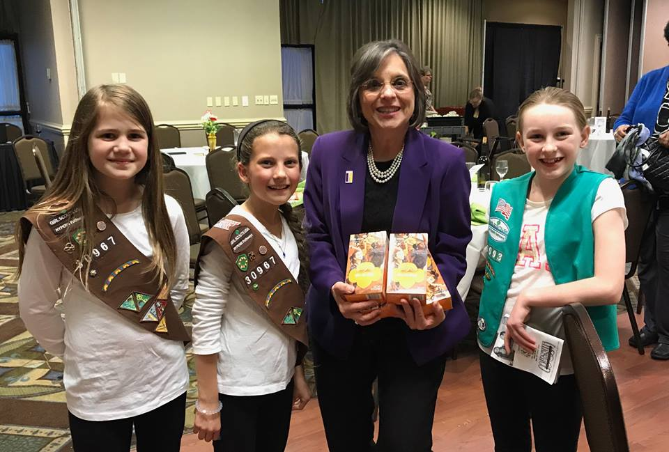 Local Girl Scouts with Assemblywoman Lupardo as she is honored as the Girl Scouts of NYPENN Pathways 2017 Woman of Distinction.