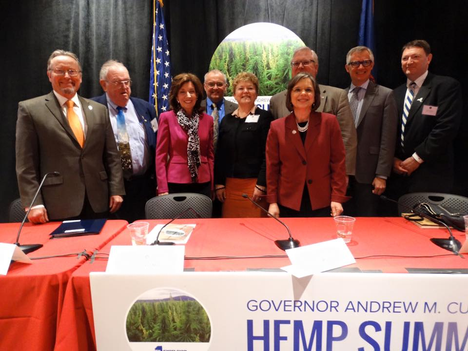 Assemblywoman Lupardo joins Lieutenant Governor Kathy Hochul and Commissioner of Agriculture & Markets for the inaugural Industrial Hemp Summit at Cornell University.