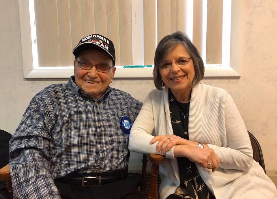January 4, 2020 – Assemblywoman Lupardo celebrates WWII hero Frank George's 100th birthday at Post 1700 in Endicott.