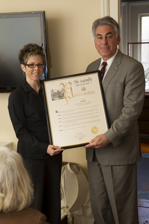 Assemblyman Stirpe honors Woman of Distinction, Hope Pelton for her dedication to her students both in and out of the classroom.