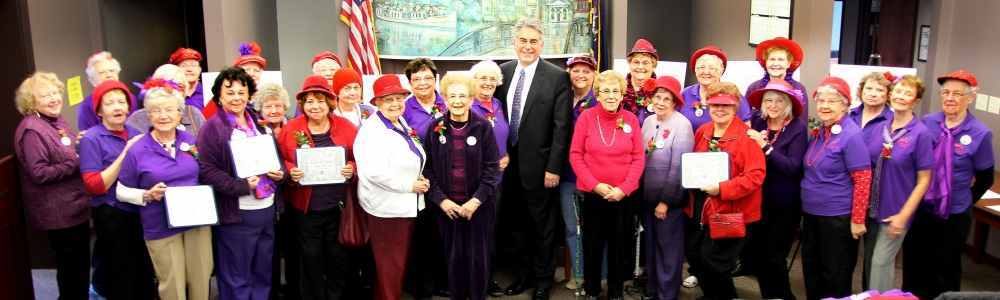 Assemblyman Al Stirpe joins the wonderful women of the Cicero Senior Center Swamp Angels, recipients of his 2014 Women of Distinction Awards.