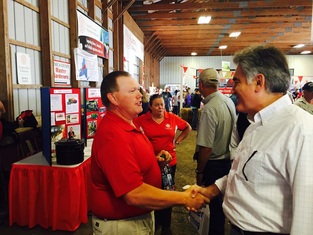 Assemblyman Stirpe speaks with Paul O�Conner, the Assistant Director for Field Operations within Cornell Cooperative Extension Administration and a constituent in the 127th Assembly District.