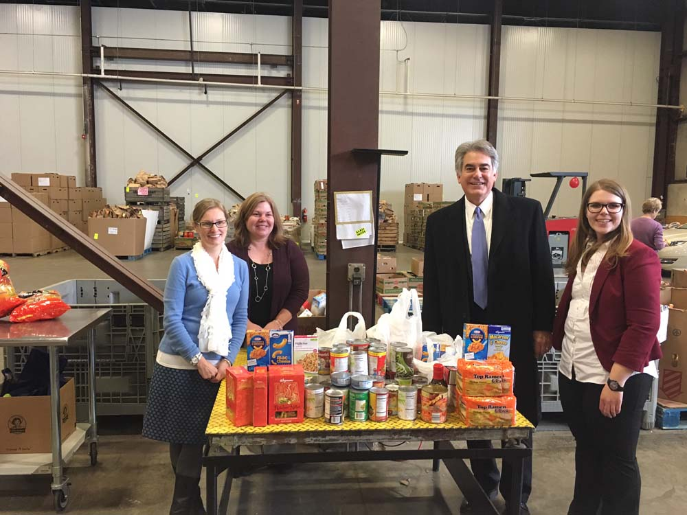 Assemblyman Stirpe collected 132 pounds of food for the Food Bank of Central New York at a food drive he hosted during the holiday season.
