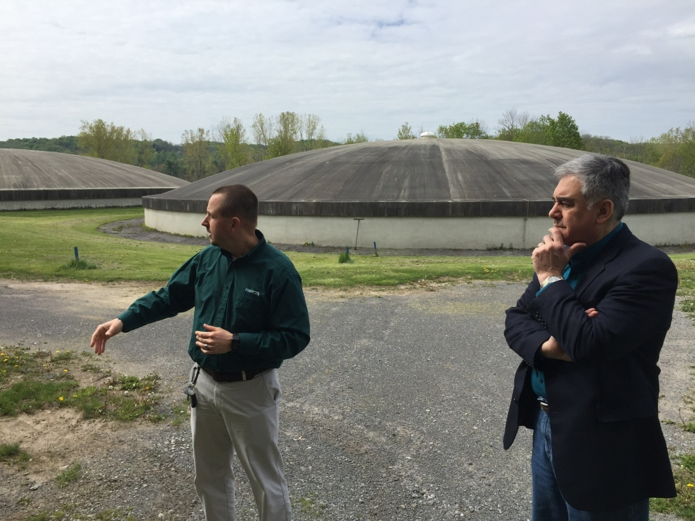 Assemblyman Al Stirpe visited the Onondaga County Water Authority (OCWA) facilities in Marcellus. (May 2017)