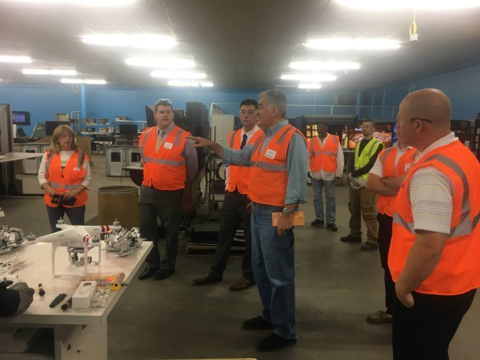 Assemblyman Stirpe visited Sunnking Electronic Recycling headquarters where all of the electronics from his annual E-recycling event are gathered and recycled.