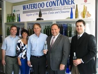 Waterloo Container in Seneca County hosted a visit from Assemblyman Phil Palmesano (second, right)  who met with (left to right) John Dixson, Chief Operating Officer; owners Annette Lutz (Human Resour
