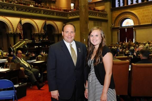 Assemblyman Phil Palmesano (R,C,I-Corning) was pleased to welcome Karilyn Rutledge from Bradford Central to the Capitol.