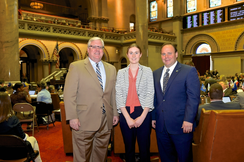 In the attached photo, from left to right: Sen. O'Mara, Margaret Badding and Assemblyman Palmesano.