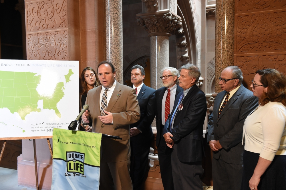 Earlier this week, Palmesano joined Assemblyman Felix Ortiz and Assemblyman Dick Gottfried, donor families and recipients and organ donation activists at a press conference in the capitol urging bipar