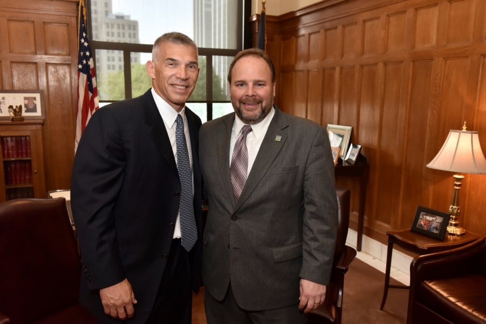 Joe Girardi and Assemblyman Phil Palmesano (R,C,I-Corning)
