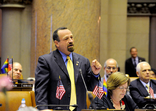 Assemblymember Bronson speaks during the marriage equality vote emphasizing how New York needs to take this historical step forward moving us closer to full equality for all in recognizing the legitimate union of two loving, committed adults without discrimination.