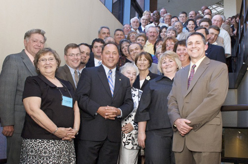 2008 Local Government Conference<br>Assemblyman Steve Hawley was joined in Albany by local government officials in June 2008.